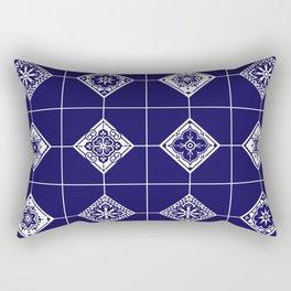 Talavera Mexican Tile – Porcelain Palette Rectangular Pillow