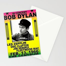 Vintage 1966 Centrum, Worcester, Massachusetts Bob Dylan Concert Billboard Gig Poster Stationery Cards