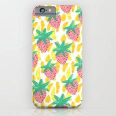 Pink Strawberries iPhone 6s Slim Case