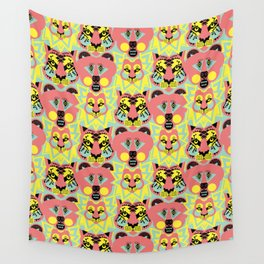 Modular Lions and Tigers and Bears. Wall Tapestry