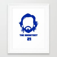 juventus Framed Art Prints featuring Pirlo Juventus by Sport_Designs