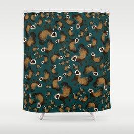 Brave Polecat ( Mustela putorius ) Shower Curtain