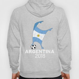 Argentina Flag Football Cup Soccer 2018 Dabbing World Hoody