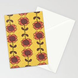 Mod Sunflower Yellow Stationery Cards