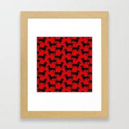 Christmas Dachshunds Framed Art Print