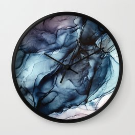 Blush and Darkness Abstract Paintings Wall Clock