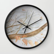Watercolor under the trees Wall Clock