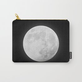 CHALK WHITE MOON Carry-All Pouch