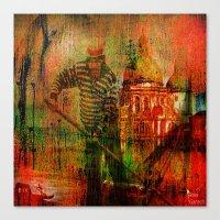 venice Canvas Prints featuring Venice by Ganech joe
