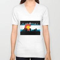 colorado V-neck T-shirts featuring COLORADO by Love Life Creative