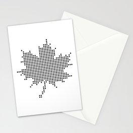 Maple Leaf BW Stationery Cards