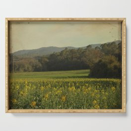Once Upon a Time a Field of Flowers Serving Tray