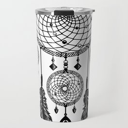 Dreamcatcher (Black & White) Travel Mug