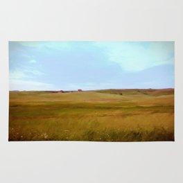 Yellow landscape Rug
