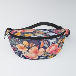 Navy Floral Fanny Pack
