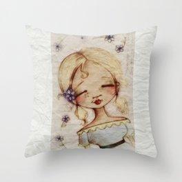 Sketchbook Girl 9.26.14 -  From the sketchbook of Diane Duda Throw Pillow