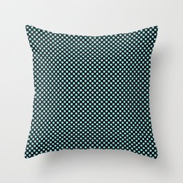 Black and Island Paradise Polka Dots Throw Pillow