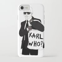 karl lagerfeld iPhone & iPod Cases featuring Karl by Les Gutiérrez