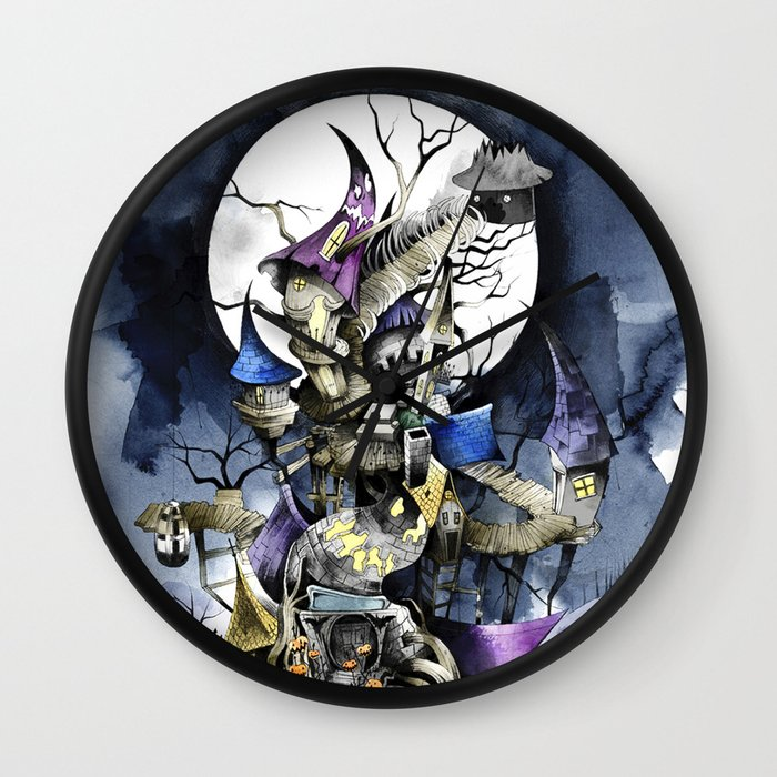the nightmare before christmas wall clock by sandraink society6 - Nightmare Before Christmas Clock