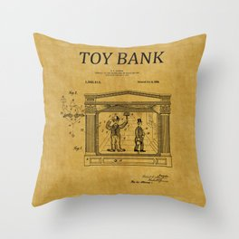 Toy Bank Patent 13 Throw Pillow