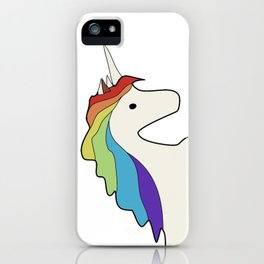 Rainbow-maned Unicorn iPhone Case