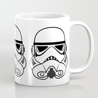 stormtrooper Mugs featuring Stormtrooper by Nicole Dean