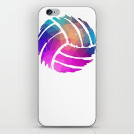 Volleyball Player or Coach Colorful Design Gift iPhone Skin