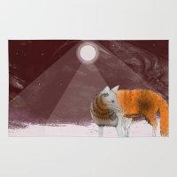 mr fox Area & Throw Rugs featuring Mr Fox by misha zaccour
