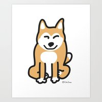Cute Shiba Art Print