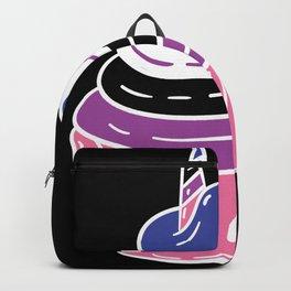 Genderfluid Cupcake Genderfluid Pride Gift Backpack