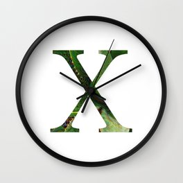 """Initial letter """"X"""" Wall Clock"""