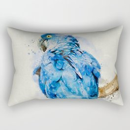 Blue Parrot Rectangular Pillow