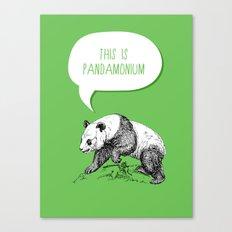 Panda Pun Canvas Print