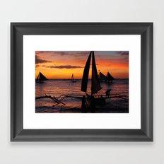 Borocay Sunset Philippines Framed Art Print