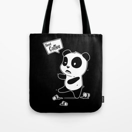 Coffee Panda Caffeine Addicts Java Lovers Tote Bag