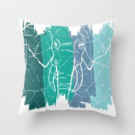 Elephant gift Pachyderus Tailed Animal Throw Pillow