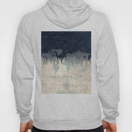 world map wanderlust forest 2 Hoody