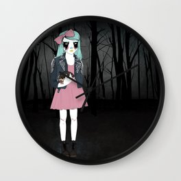 Corpse Paint Wall Clock