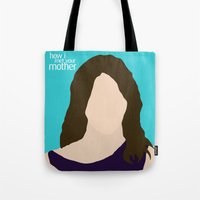 himym Tote Bags featuring Robin Scherbatsky HIMYM by Rosaura Grant