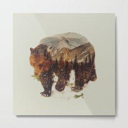 Wild Grizzly Bear Metal Print