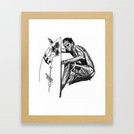 Surfer - Black and White Framed Art Print