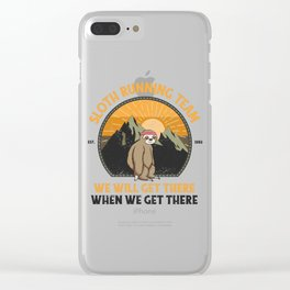 Sloth Running, Sloth Running Team Clear iPhone Case