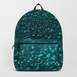 TEAL SPARKLING GLITTER LIGHTS Backpack