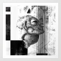 Żaboludź - ZONA Art Print