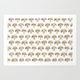 Many champignon slices pattern Art Print