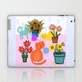 Three Curious Cats Laptop & iPad Skin