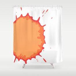 Splat on White - by Friztin Shower Curtain