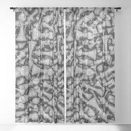 Chess B&W Sheer Curtain