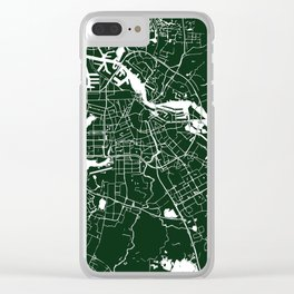 Amsterdam Green on White Street Map Clear iPhone Case