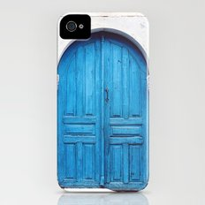 Vibrant Blue Greek Door to Whitewashed Home in Crete, Greece iPhone (4, 4s) Slim Case